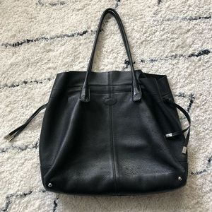 Tod's Black Leather Tote Bag